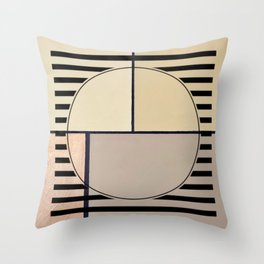 Toned Down - line graphic Throw Pillow