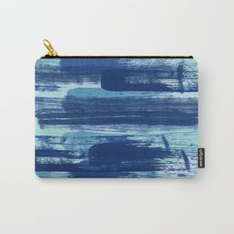 Blue Brush Strokes  Carry-All Pouch
