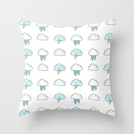 Cloudy Pattern Throw Pillow
