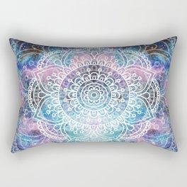 Mandala Dream | Watercolor Galaxy Painting Rectangular Pillow