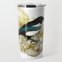 Magpie and Rutilated Quartz Travel Mug