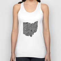 ohio state Tank Tops featuring Typographic Ohio by CAPow!