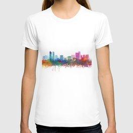 Denver City Skyline Watercolor Print by Zouzounio Art T-shirt