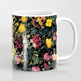 Floral and Birds Pattern Coffee Mug