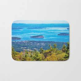 View of Bar Harbor, Maine from Cadillac Mountain (1) Bath Mat