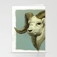 ram Stationery Cards featuring Ram by Merz