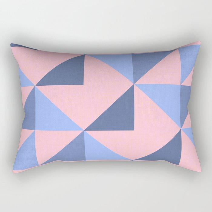 WOVEN PASTEL GEOMETRIC PATTERN Rectangular Pillow