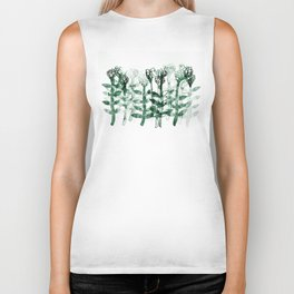 watercolor flowers Biker Tank