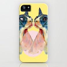 cat yellow iPhone (5, 5s) Slim Case