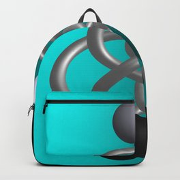 escaped -3of3- turquoise Backpack