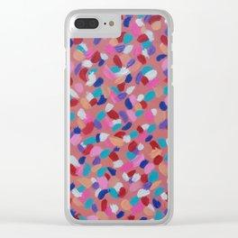 Pink Spun Sugar Clear iPhone Case