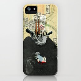 just thinking about myself... iPhone Case