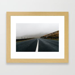 Lonely Road in Ireland Framed Art Print