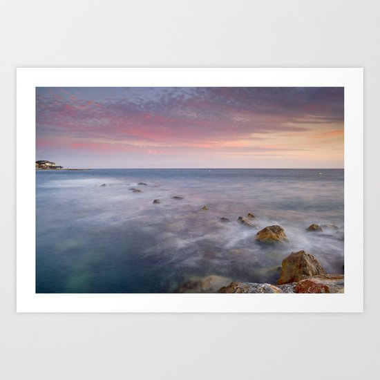 Pink seasunset Art Print
