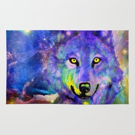 NEBULA WOLF OF MY DREAMS VIOLET BLUE Rug