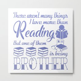 Reading Brother Metal Print