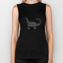 "Brontosaurus Dinosaurus (A.K.A Apatosaurus ""Big Cow"") Butcher Meat Diagram Biker Tank"