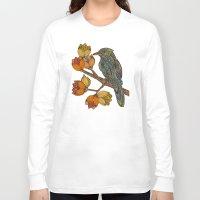 valentina Long Sleeve T-shirts featuring Bravebird by Valentina Harper
