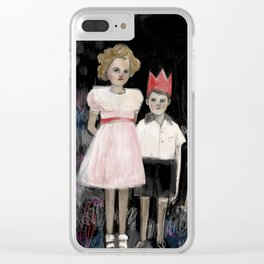 Lucy and Elliot Clear iPhone Case