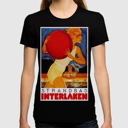 Vintage Interlaken Switzerland Travel T-shirt