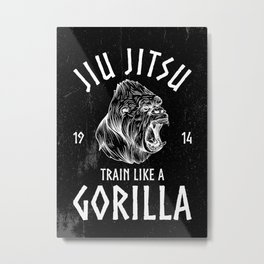 JIU JITSU POSTER MARTIAL ARTIST Metal Print