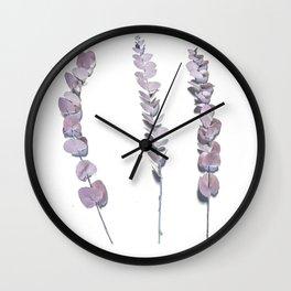 Inverted Eucalyptus Wall Clock