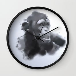 Animals and Art - young Chimp Wall Clock