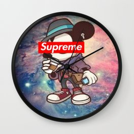 mickey hipster supreme Wall Clock