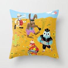 The Animal Jamboree Throw Pillow