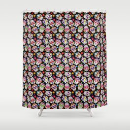 Day Of The Dead Pattern | Dia De Los Muertos Skull Shower Curtain