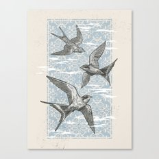 Free Bird (Three Swallows) Canvas Print