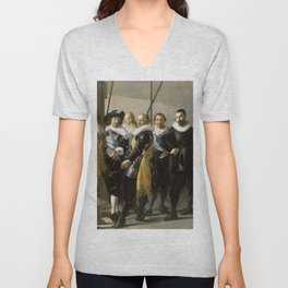 "Franz Hals ""Militia Company of District XI also known as 'The Meagre Company'"" Unisex V-Neck"