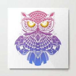 Fire eyes owl Metal Print