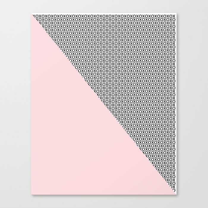 two triangles - blush and small xo Canvas Print