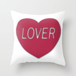Lover (Without Heart) Throw Pillow