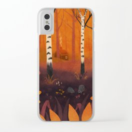 Hedgehog Forest Clear iPhone Case