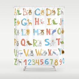 Animals Alphabet Shower Curtain