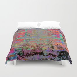 Neon Charred Abstract Duvet Cover