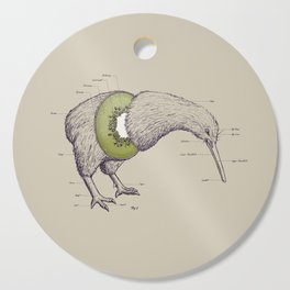 Kiwi Anatomy Cutting Board