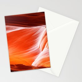 Sandstone abstract textures at Antelope Canyon Stationery Cards
