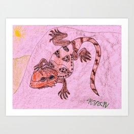 Bearded Dragon Lizard Art Print