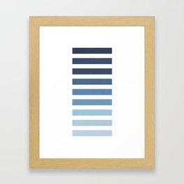 Sky and Water Blue Palette Gerahmter Kunstdruck
