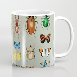 The Usual Suspects - Insects on grey Coffee Mug