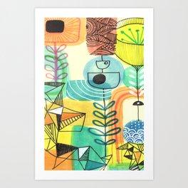 Sketchbook art Retro Design Art Print