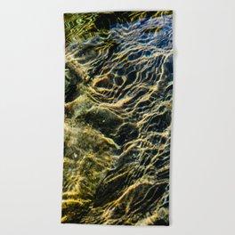 Ripples on River Rocks Beach Towel