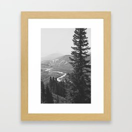 River through the Mountains Framed Art Print