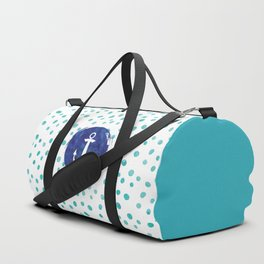 Watercolor Ship's Anchor Duffle Bag