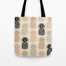Retro Mid Century Modern Pineapple Pattern 77 Tote Bag