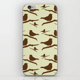Brown Bird Silhouette iPhone Skin