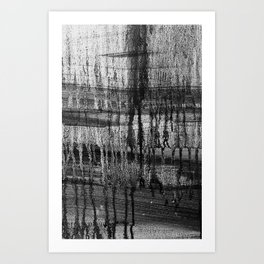 Grayscale Stains Art Print